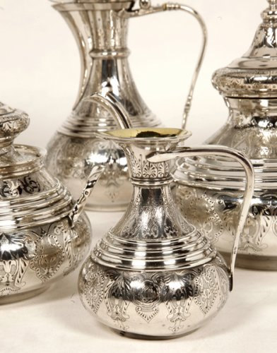 Ottoman tea/coffee set  by Duponchel, - XIXth - Napoléon III