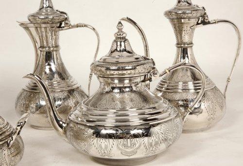 Napoléon III - Ottoman tea/coffee set  by Duponchel, - XIXth