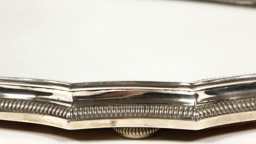 Antique Silver  - Mirror plateau in silver by D. Roussel, early 20th