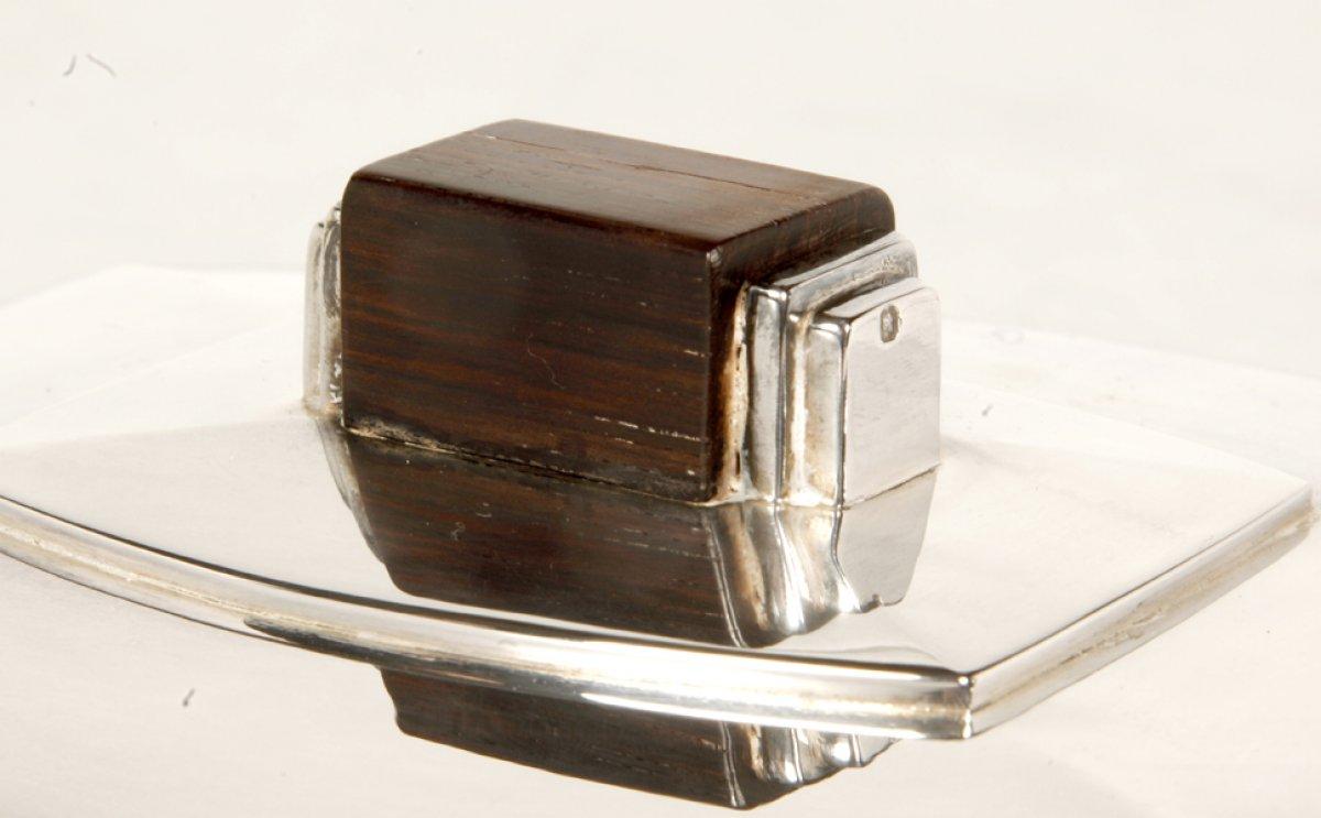 l gumier couvert en argent art d co par l 39 orf vre ravinet d 39 enfert xxe si cle. Black Bedroom Furniture Sets. Home Design Ideas