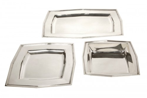 Set of 6 plates - Art Déco - by Cardeilhac