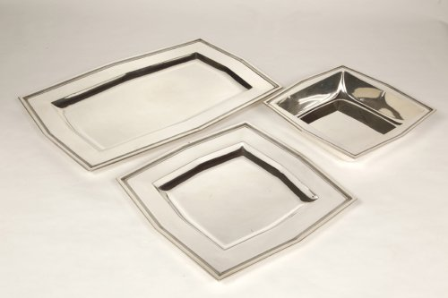Antique Silver  - Set of 6 plates - Art Déco - by Cardeilhac