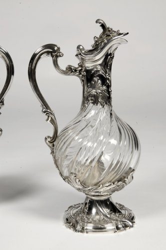 Antique Silver  - Pair of ewes in silver and crystal - XIXth - by Lapar