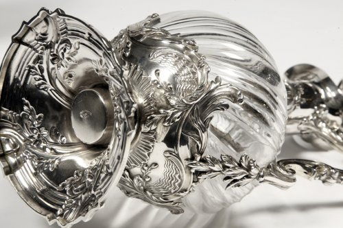 Antiquités - Pair of ewes in silver and crystal - XIXth - by Lapar