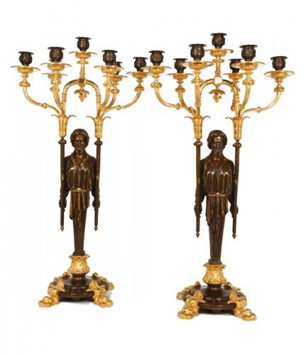 Pair of candelabras Napoléon III