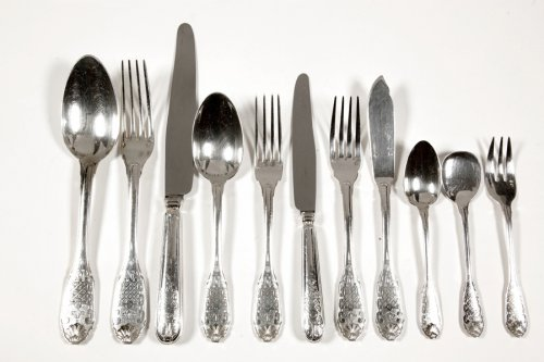 "Cutlery set silver 151 pieces ""Regency"" model - Early 20th by Cardeilhac"