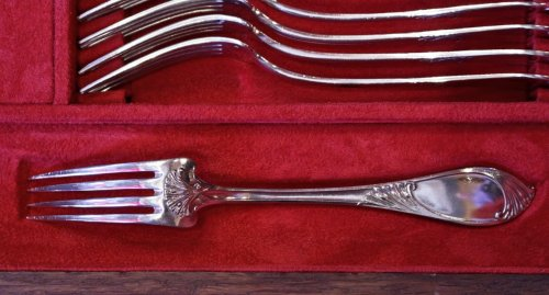 Flatware set in silver  - Art Nouveau by Debain 271 pieces - Art nouveau