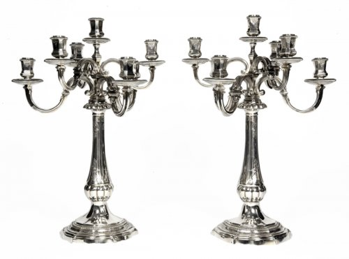 Pair of candelabras by Puiforcat
