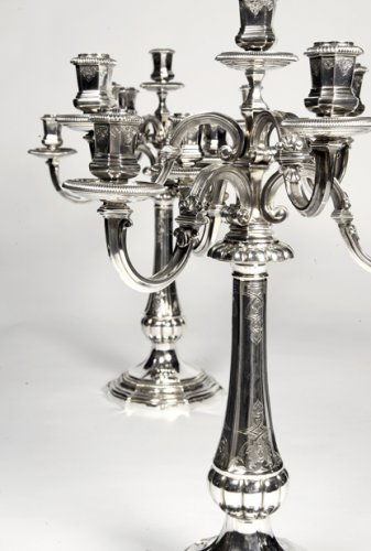 Pair of candelabras by Puiforcat - Lighting Style