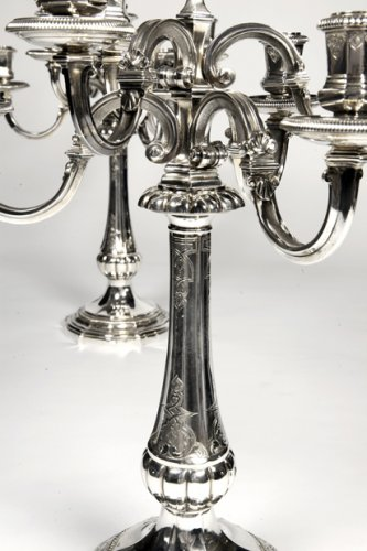 - Pair of candelabras by Puiforcat