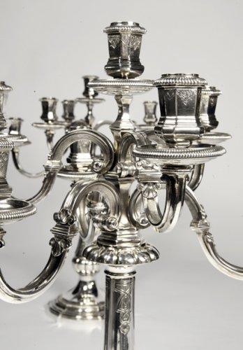 Antiquités - Pair of candelabras by Puiforcat