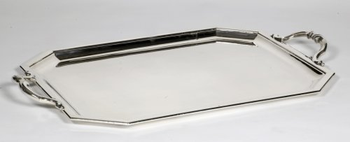 Tray in silver Art déco by Puiforcat