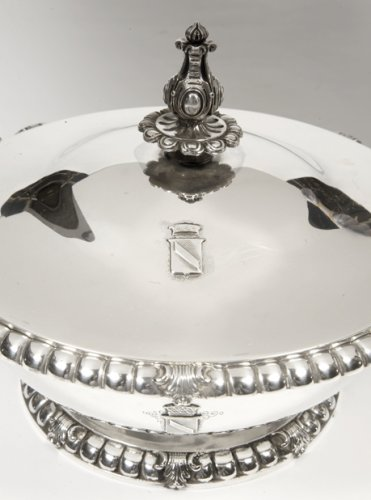 Antique Silver  - Silver vegetable dish, cover and liner 19th by Froment-Meurice