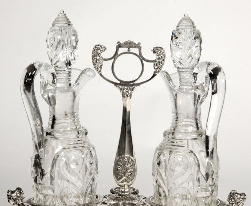 Silver oiler- Empire period - by Abel Etienne Giroux - Antique Silver Style Empire