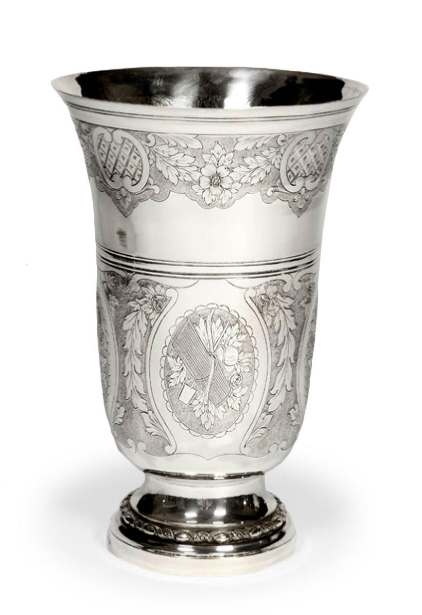silver york new vase hammered large supernova van vliet