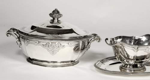 Antique Silver  - Silver vegetables and sauce pan late XIXth by Lapparra
