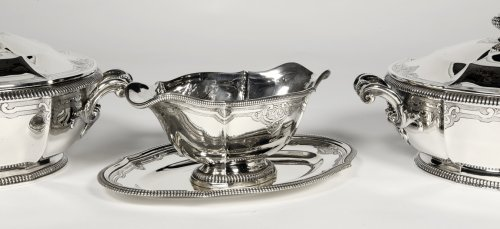 19th century - Silver vegetables and sauce pan late XIXth by Lapparra