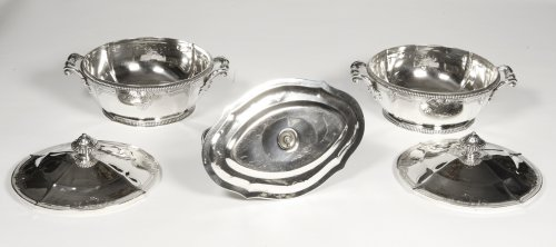 - Silver vegetables and sauce pan late XIXth by Lapparra