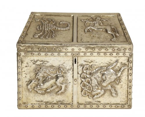 Silver gilt chest late XIXth - by Georges K.Glaser
