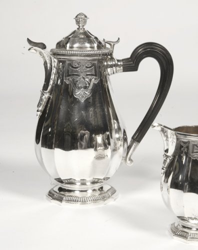 19th century - Service the / coffee silver - late xix by Broliquier and Rodet