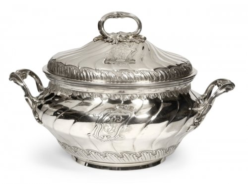 Soup tureen in silve, early XXth by BOINTABURET