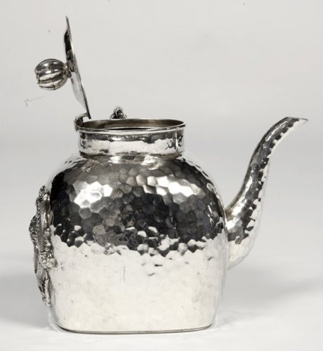 20th century - Chinese silver teapot - early 20th by Tu Mao Xing