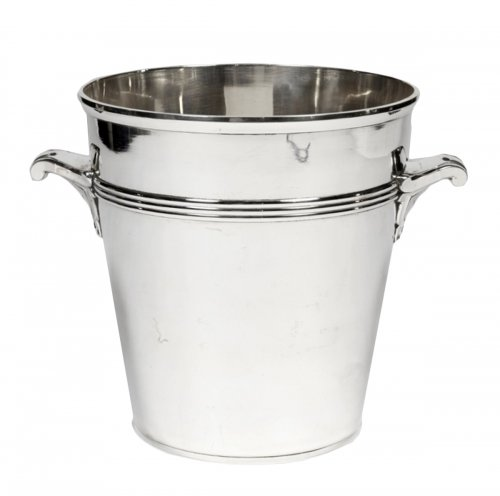 Art Deco silver wine cooler by Coignet