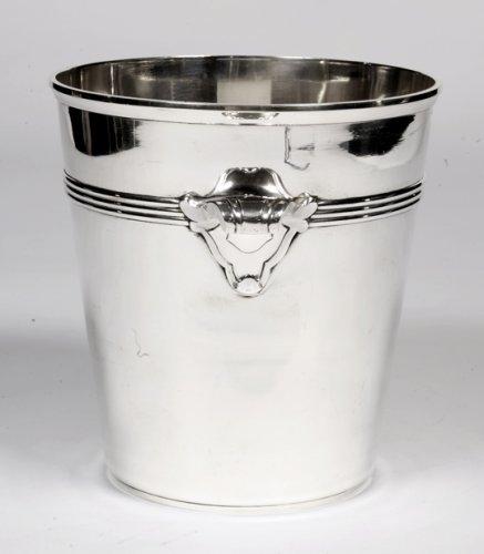 Art Deco silver wine cooler by Coignet - Antique Silver Style Art Déco