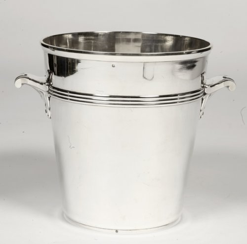 Antique Silver  - Art Deco silver wine cooler by Coignet