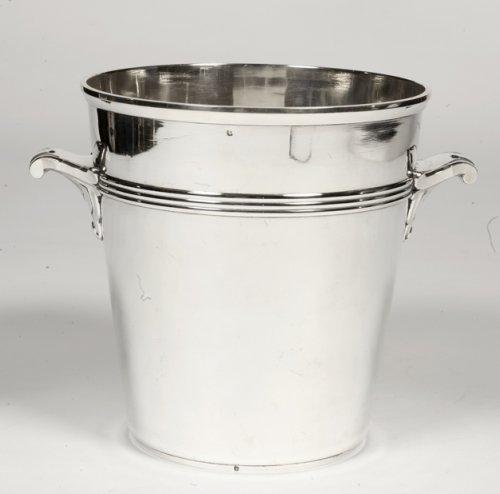 Antique Silver  - Art Deco silver wine cooler by Coignet