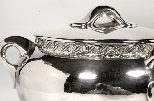Silver soup tureen - 1950 by silversmith Tétard - Antique Silver Style 50