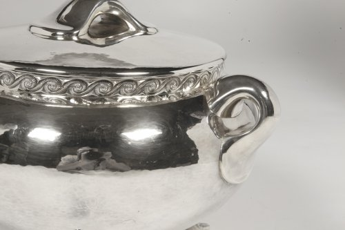 Antique Silver  - Silver soup tureen - 1950 by silversmith Tétard