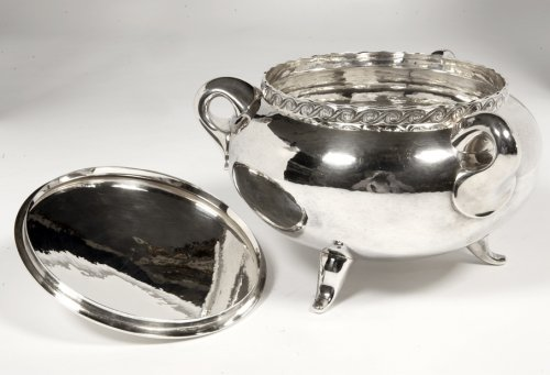 20th century - Silver soup tureen - 1950 by silversmith Tétard
