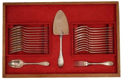 Silver Cutler Set 'Elysée' Model early XXth by Puiforcat