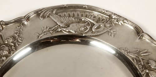 Antique Silver  - Pair of solid silver plates, early 20th  by J. Chaumet