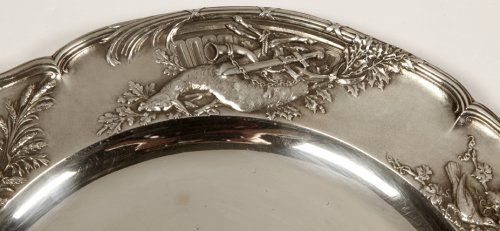 20th century - Pair of solid silver plates, early 20th  by J. Chaumet