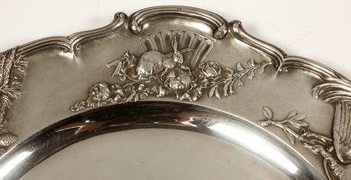 Antiquités - Pair of solid silver plates, early 20th  by J. Chaumet