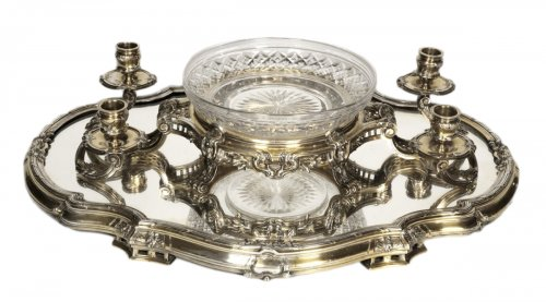 Bointaburet - Centerpiece in silvergilt, 19th century