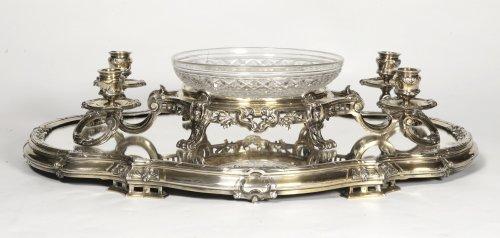 Bointaburet - Centerpiece in silvergilt, 19th century - Antique Silver Style Napoléon III