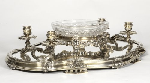 Antique Silver  - Bointaburet - Centerpiece in silvergilt, 19th century