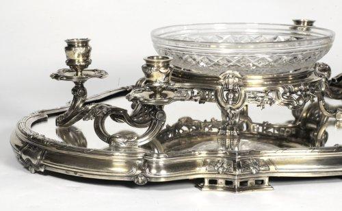 Bointaburet - Centerpiece in silvergilt, 19th century -