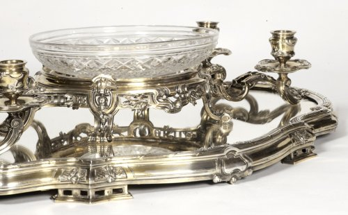 19th century - Bointaburet - Centerpiece in silvergilt, 19th century
