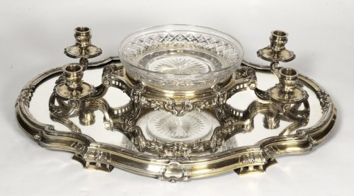 Bointaburet - Centerpiece in silvergilt, 19th century - Napoléon III