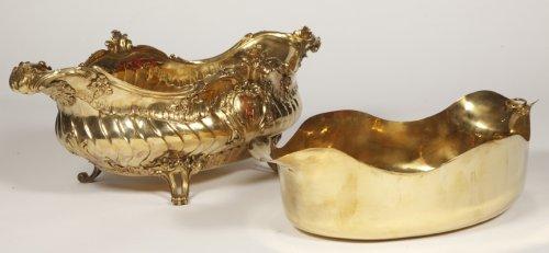 19th century - Gilt metal Gardener silversmith BOIN TABURET XIXth