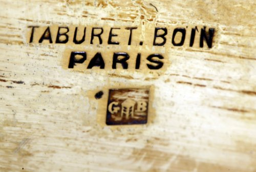 Napoléon III - Gilt metal Gardener silversmith BOIN TABURET XIXth