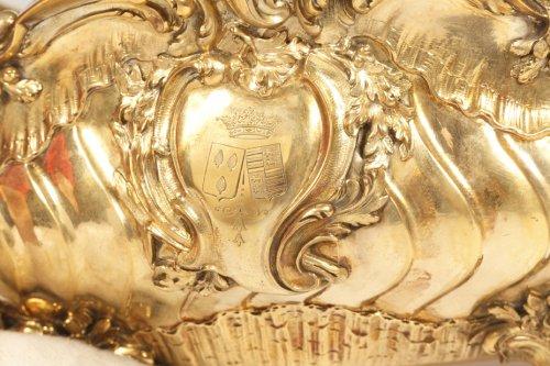 Antiquités - Gilt metal Gardener silversmith BOIN TABURET XIXth