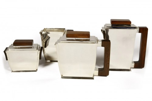 20th-century silver and tea service by silversmith BLOCH ESCHWEGE