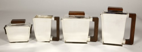 20th-century silver and tea service by silversmith BLOCH ESCHWEGE - Antique Silver Style Art Déco