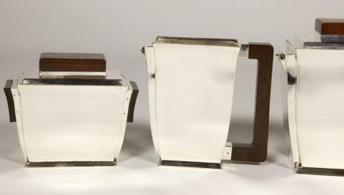 20th-century silver and tea service by silversmith BLOCH ESCHWEGE -