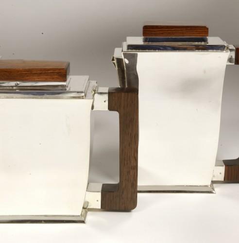 20th century - 20th-century silver and tea service by silversmith BLOCH ESCHWEGE